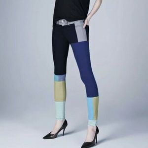 J BRAND Color Blocked Skinny Midrise Patchwork